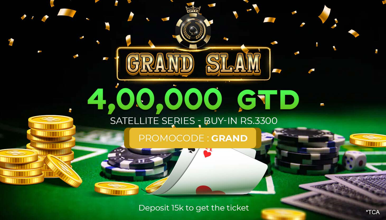 Poker Promotion | Tournaments | GRAND SLAM 4L GTD