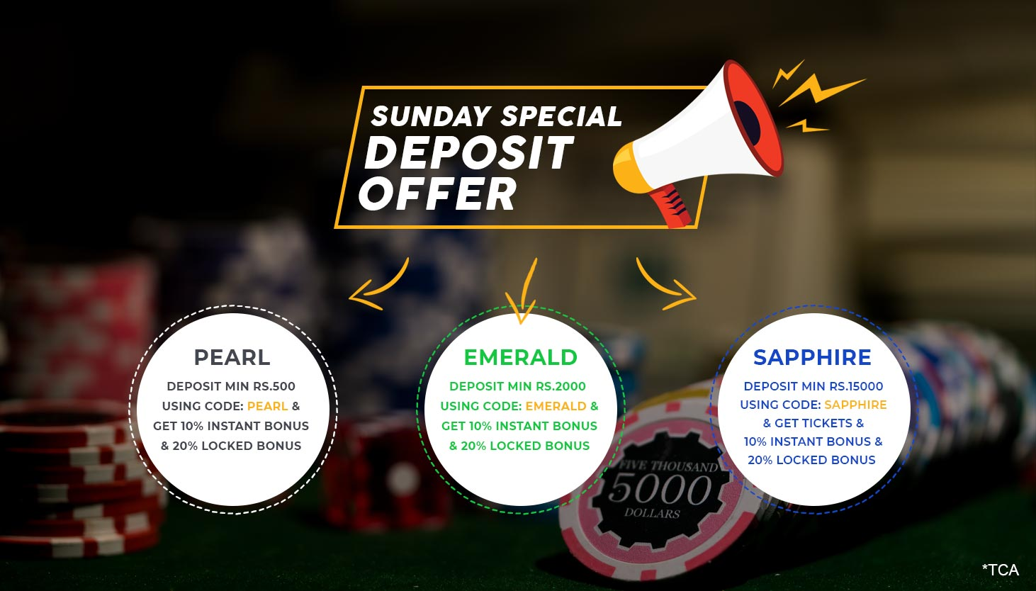 Saturday Special deposit offer