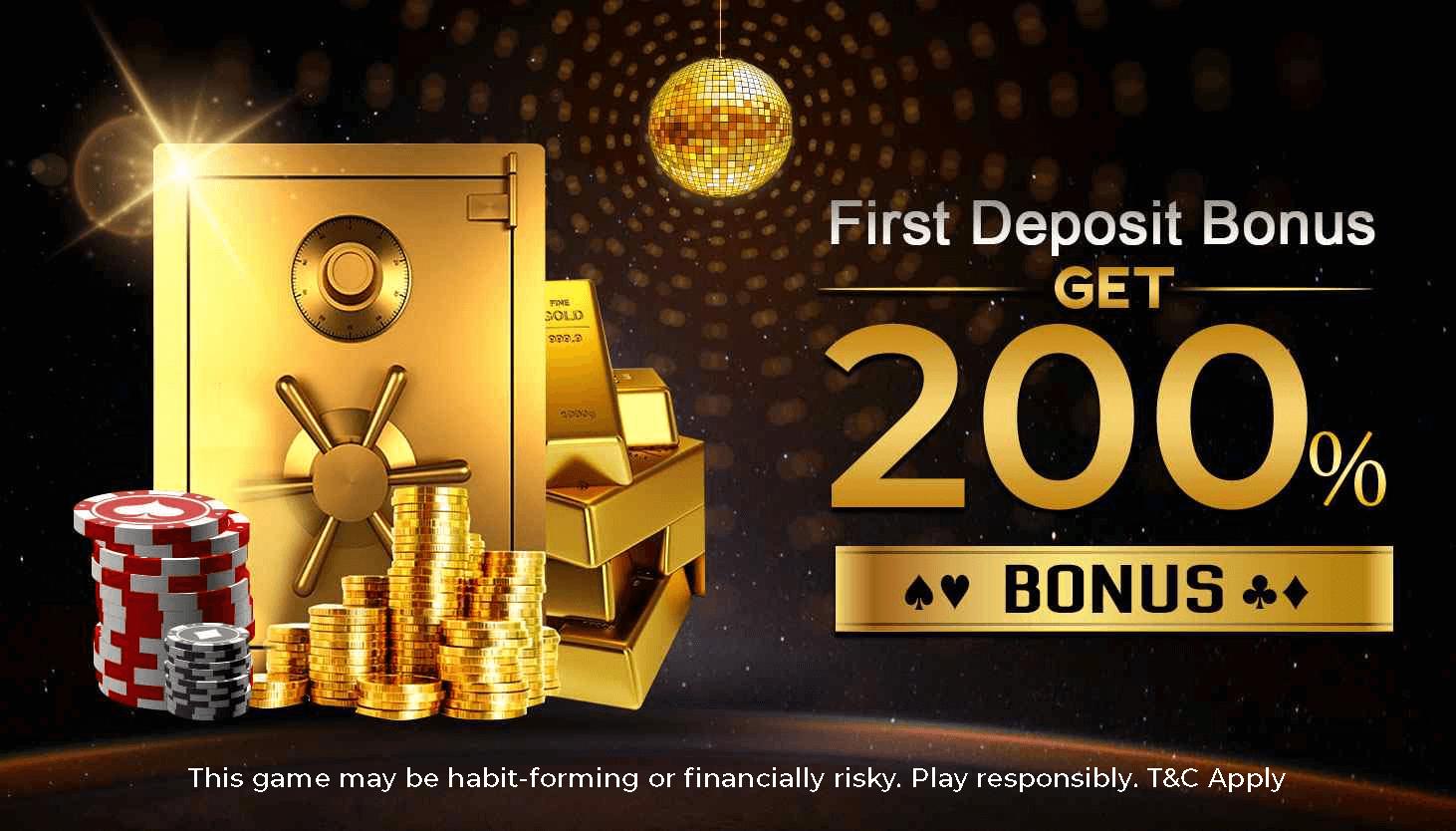 Poker First Deposit Bonus Signup Get Up To 190 Bonus Khelo365 Poker